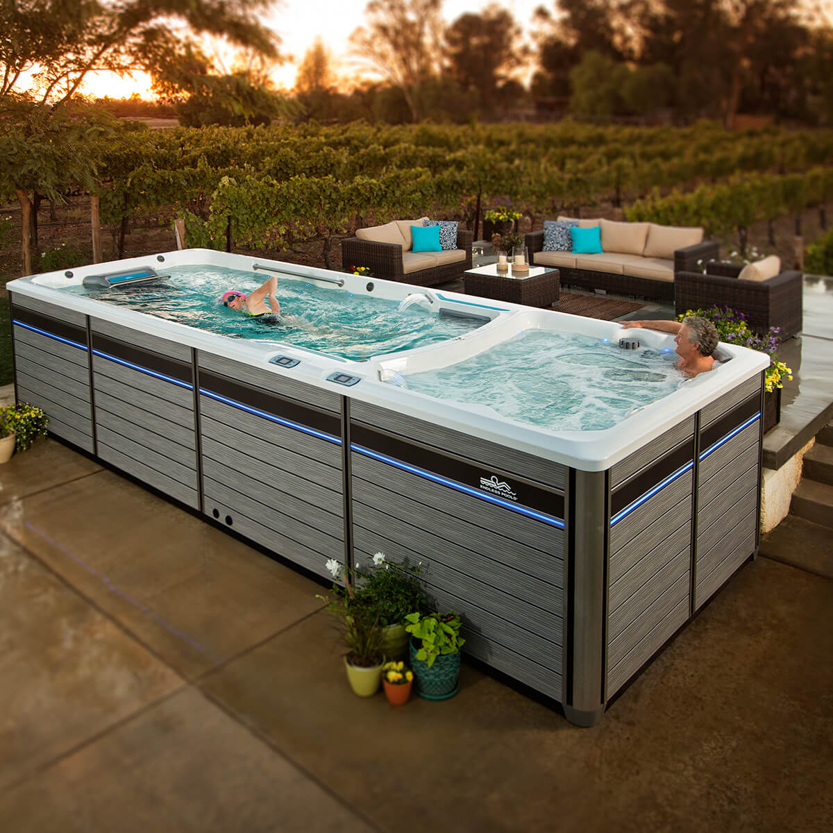 e2000 endless pools fitness systems mountain hot tub. Black Bedroom Furniture Sets. Home Design Ideas