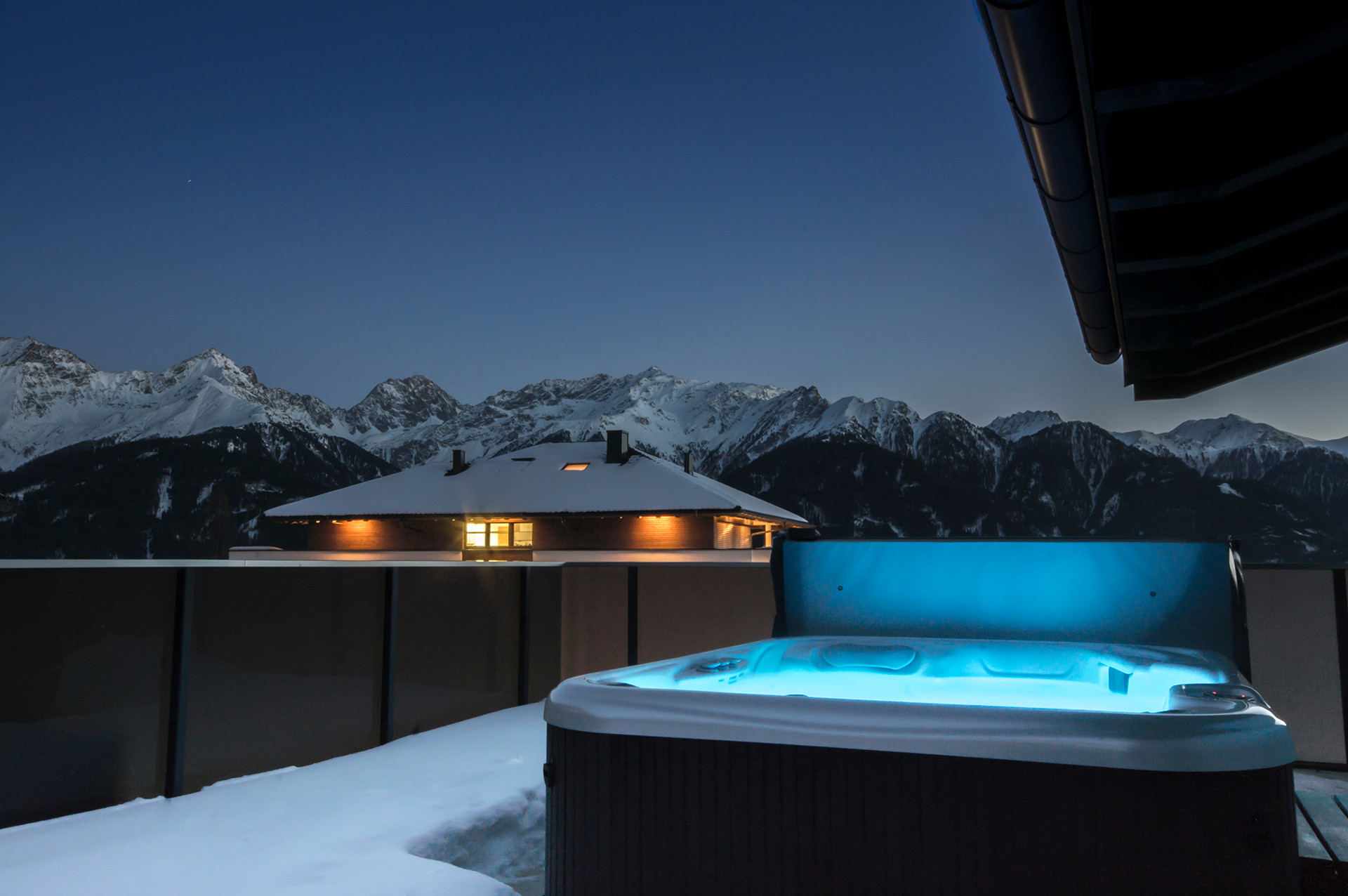 The Snow Is Flying! - Mountain Hot Tub